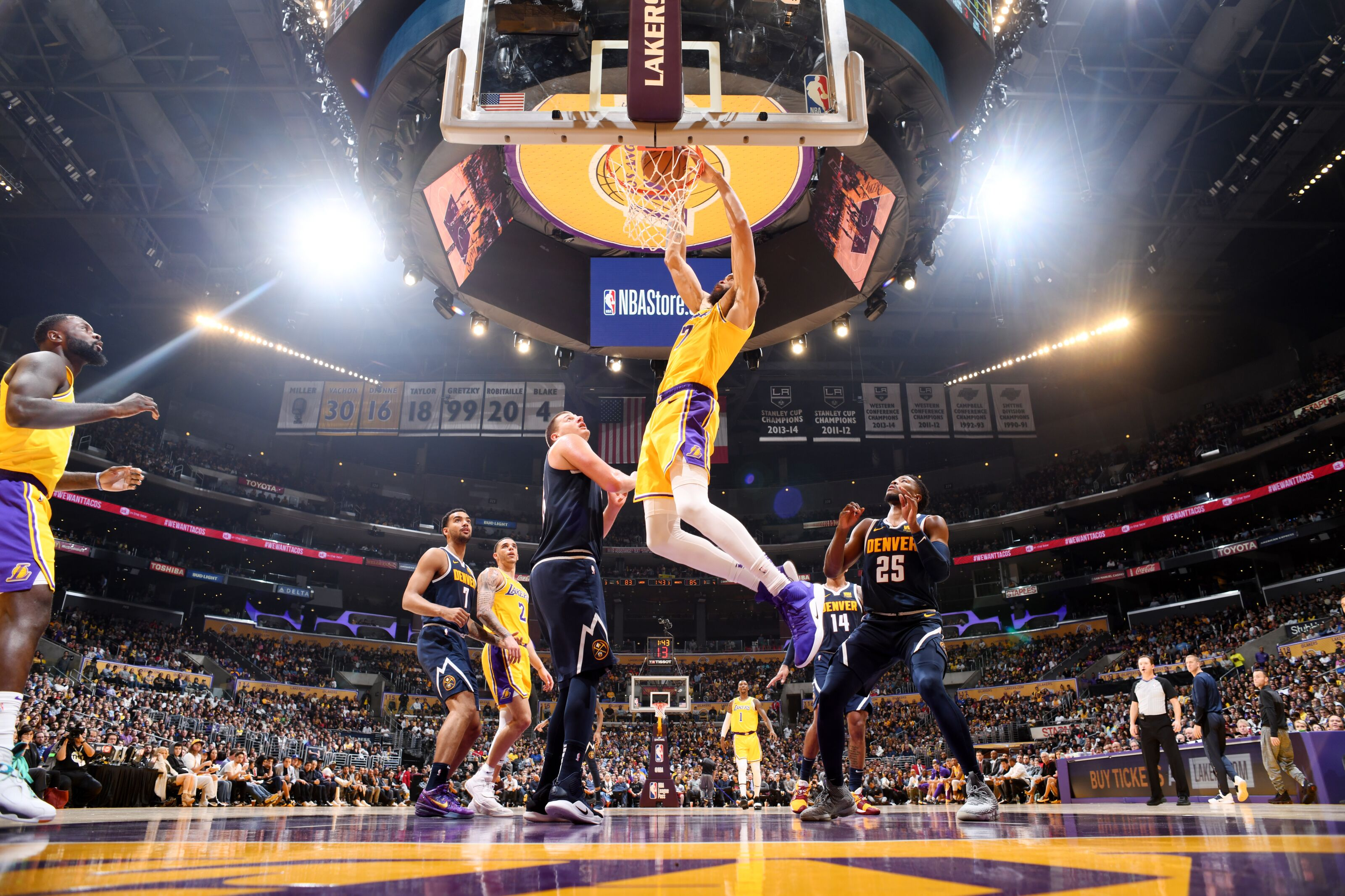 buy online 0ecd2 2c1aa Denver Nuggets  Player grades against the LA Lakers