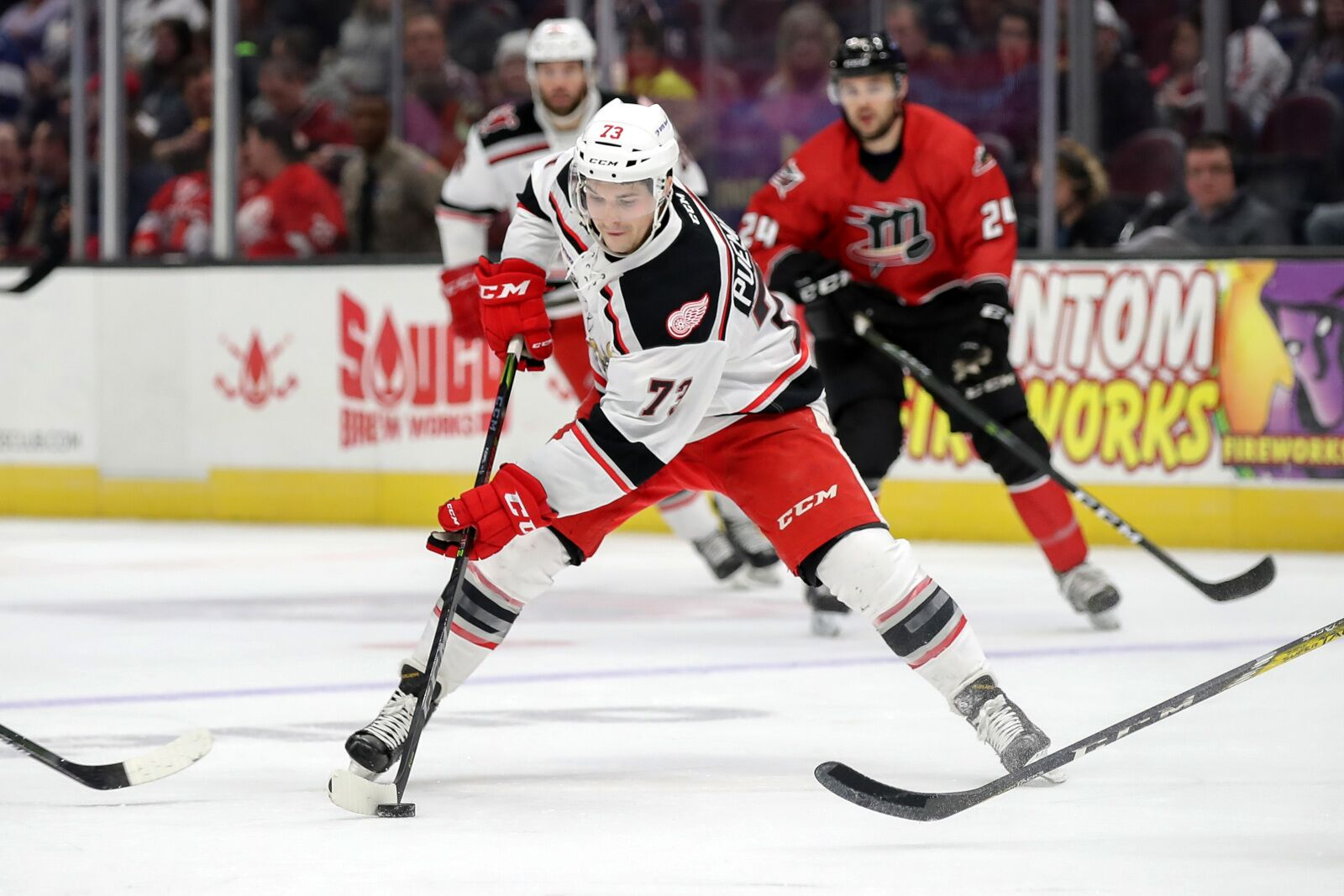 Matt Puempel will get an audition with the Detroit Red Wings