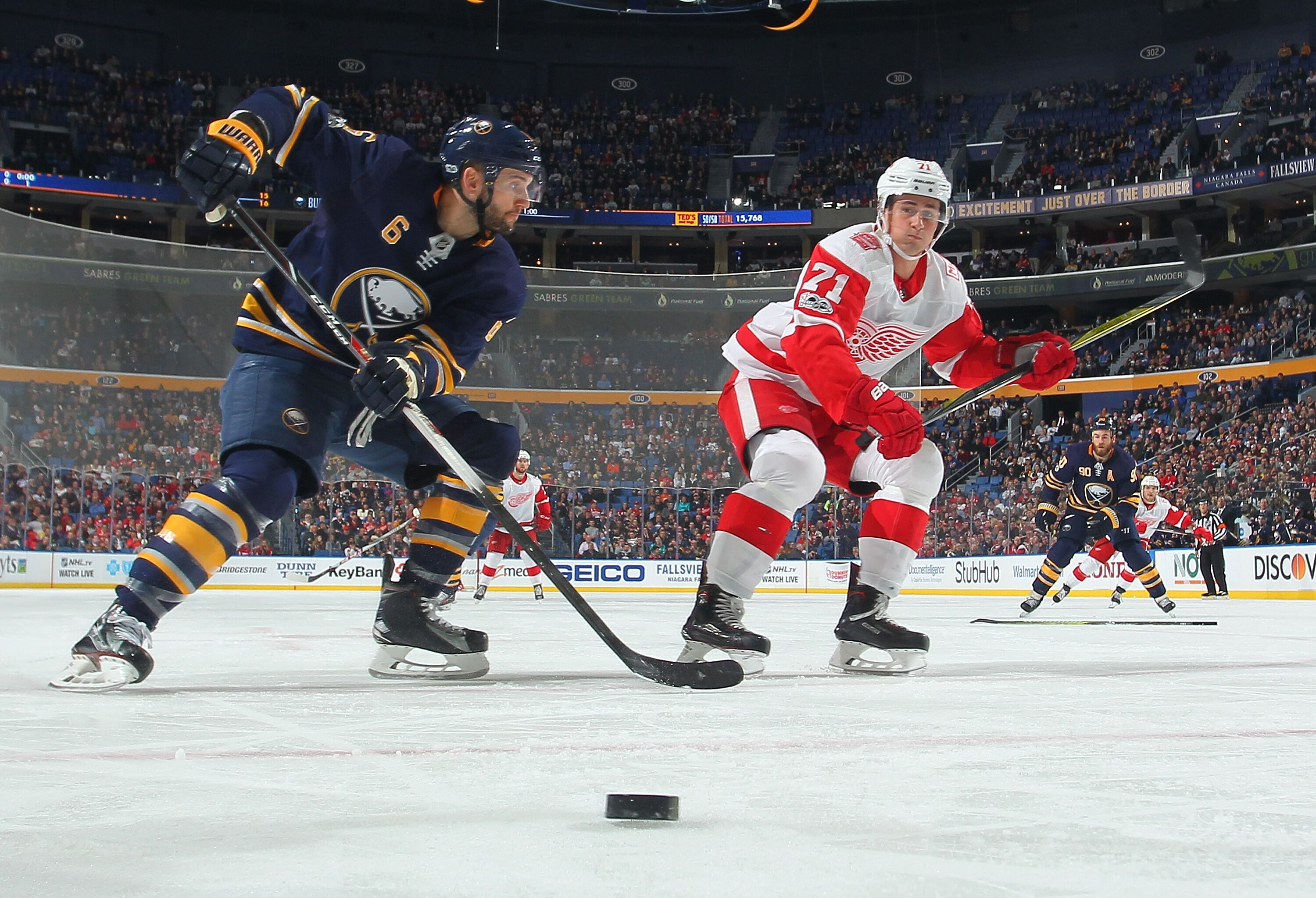 sabres defeat red wings in atlantic division matchup. Black Bedroom Furniture Sets. Home Design Ideas