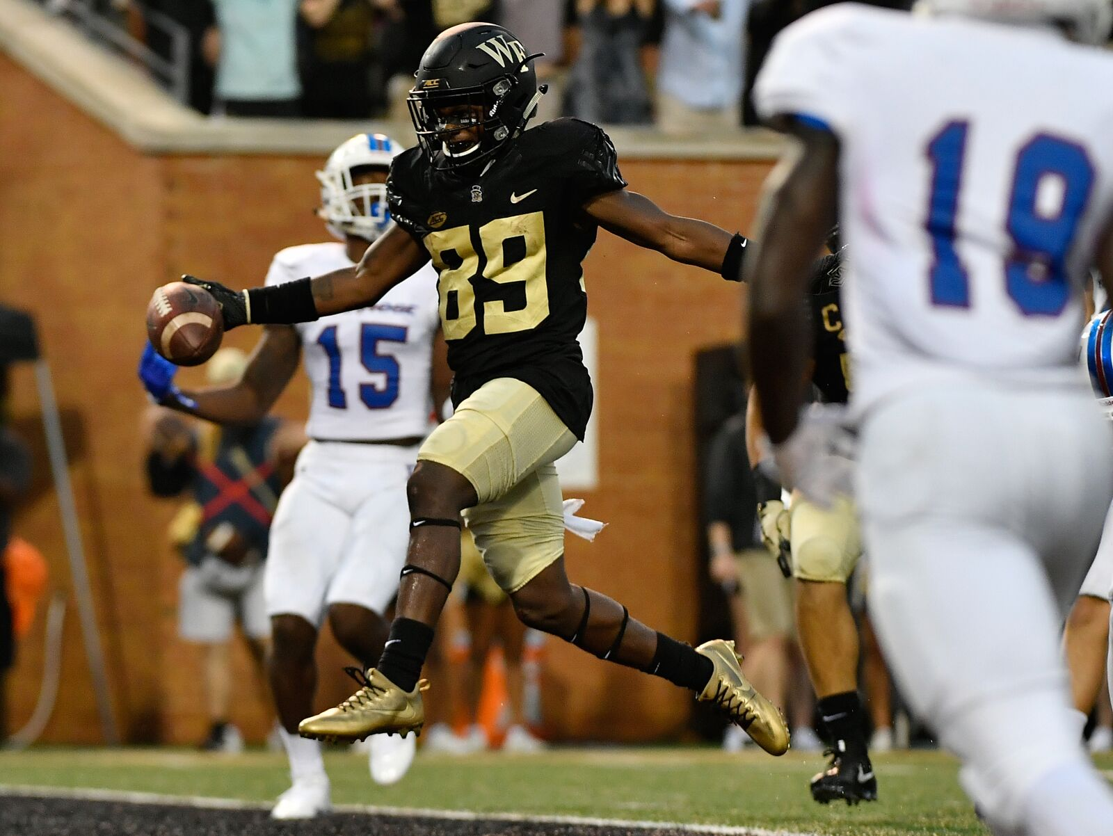 The Wake Forest Demon Deacons are the various sports teams of Wake Forest University Originally Wake Forests athletic teams were known as the Fighting Baptists
