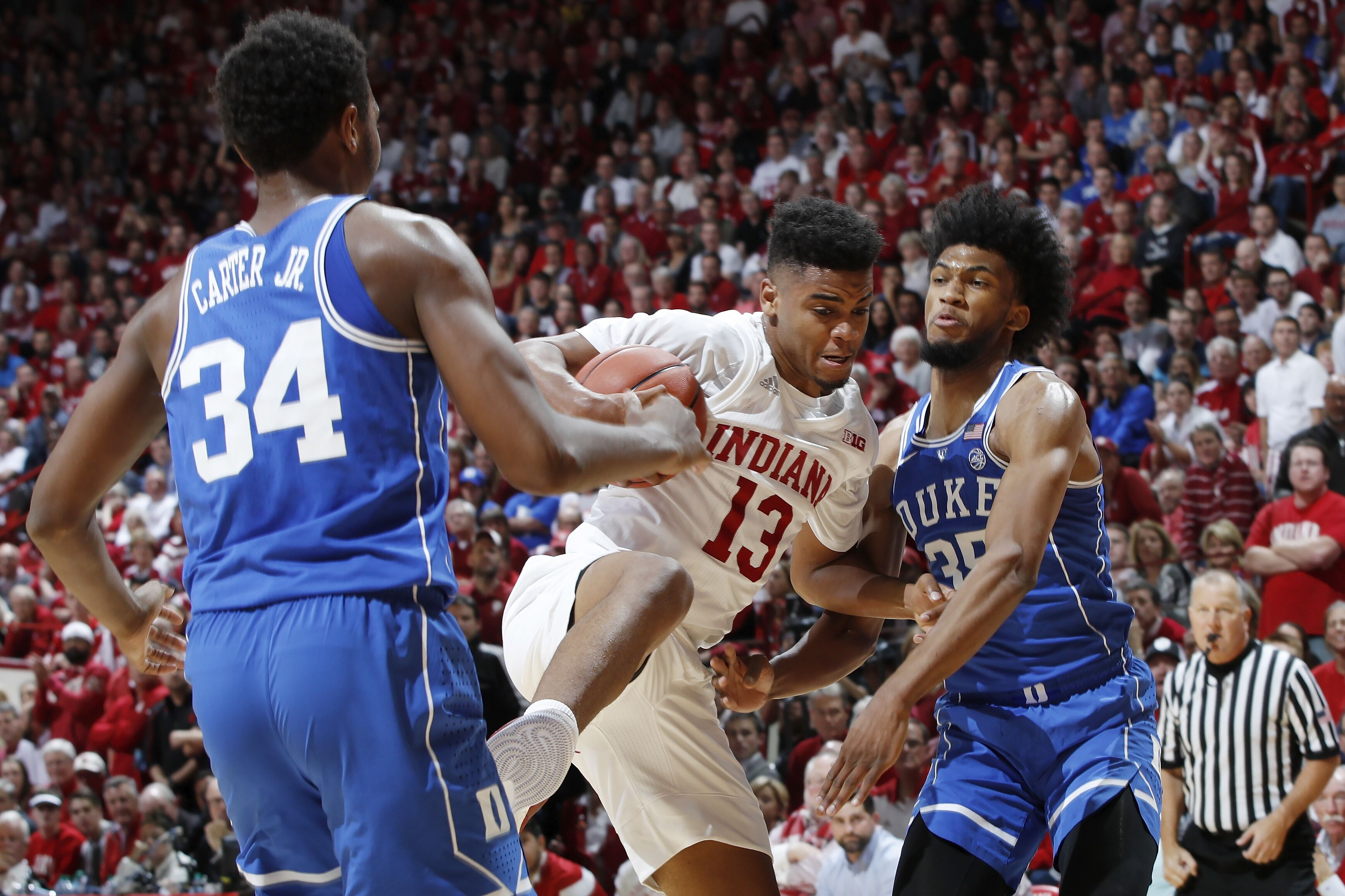 Young Duke basketball team stands tall in hostile Indiana