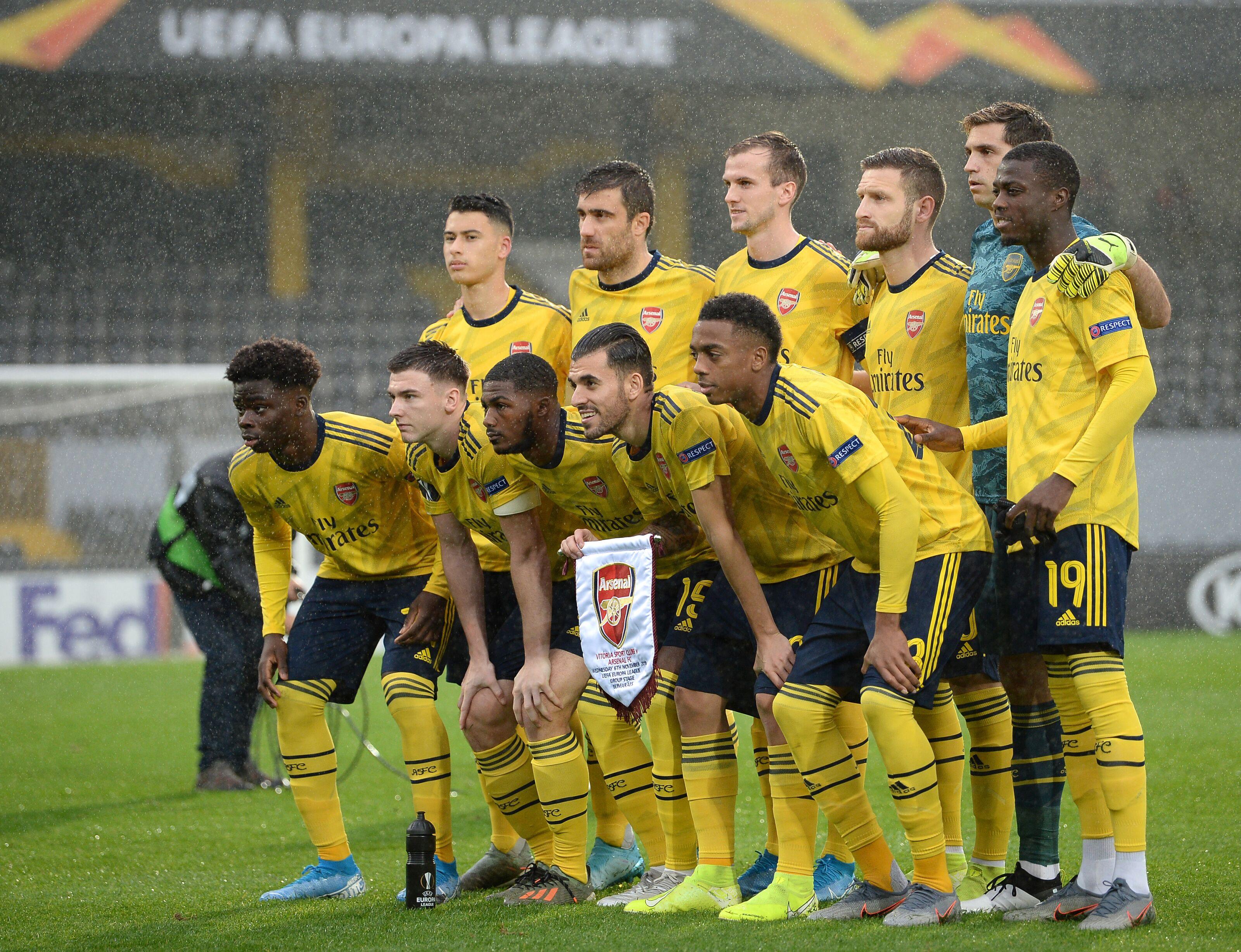 Hasil gambar untuk Vitoria SC 1-1 Arsenal