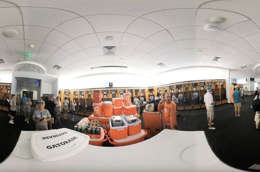 Miami Dolphins Locker Room At Hard Rock Stadium Screen Capture Of A 360 Video