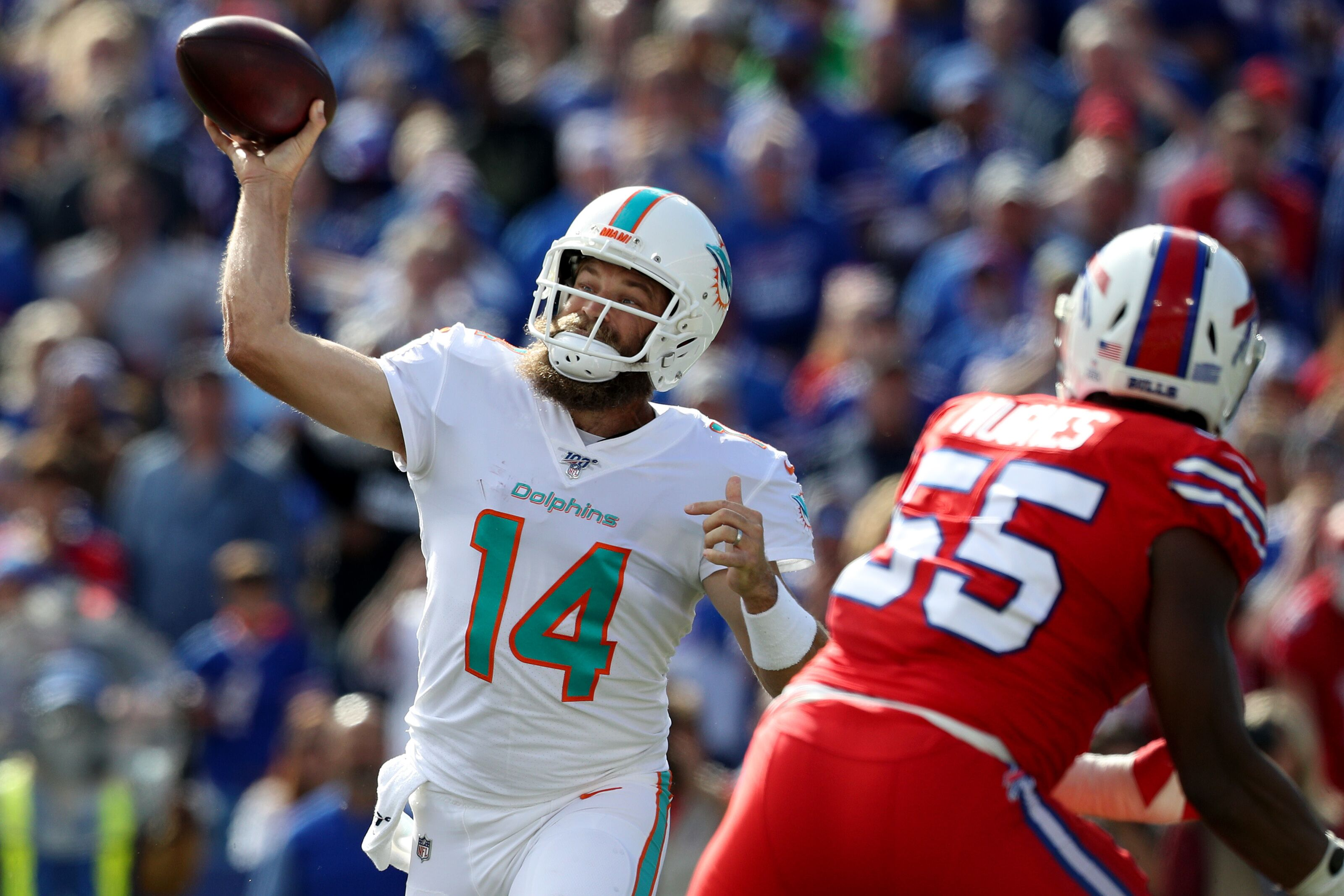 """Miami Dolphins Ryan Fitzpatrick to start for the """"foreseeable future"""""""