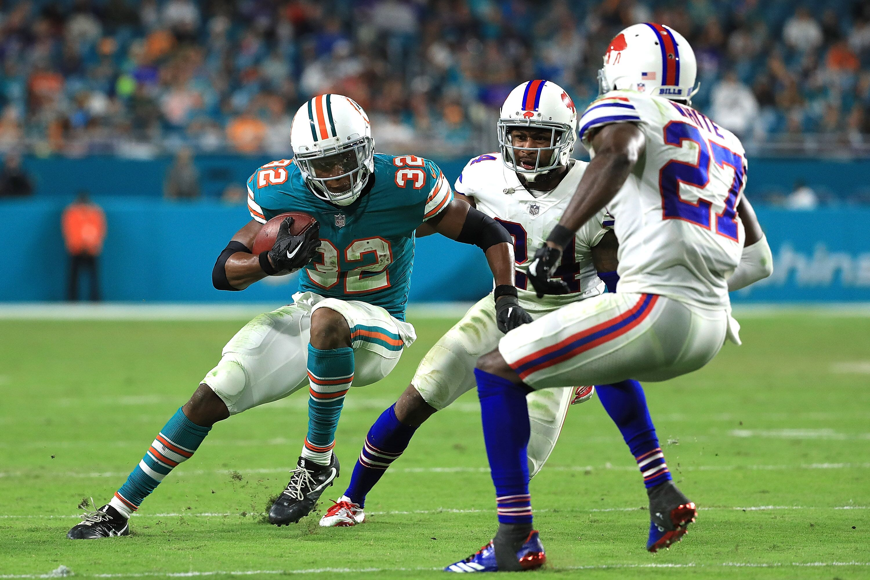 miami dolphins running backs: stay or go
