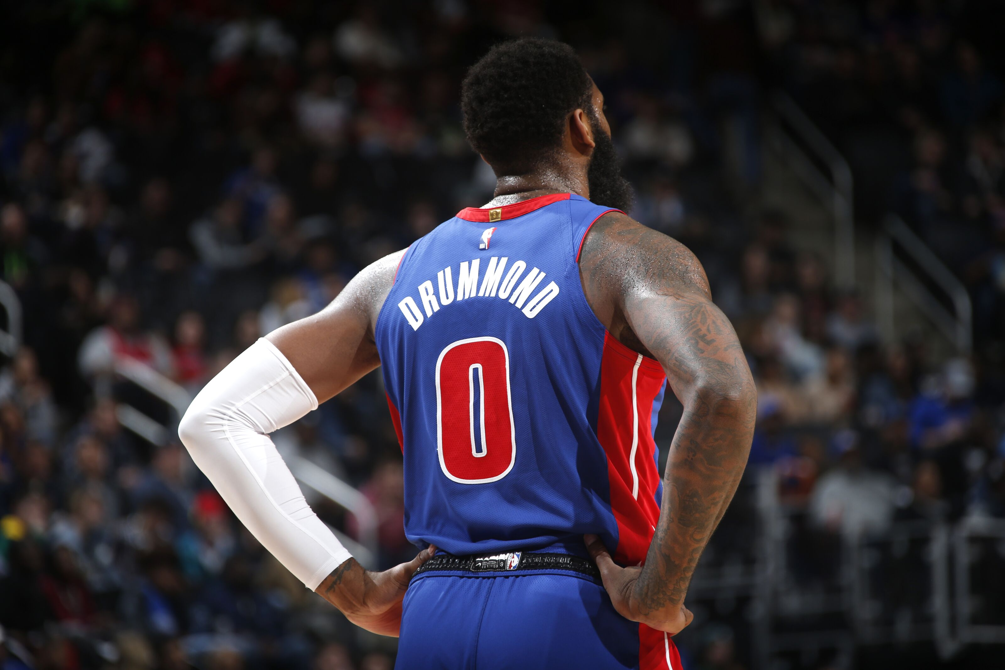 Detroit Pistons center Andre Drummond begins two-game tryout