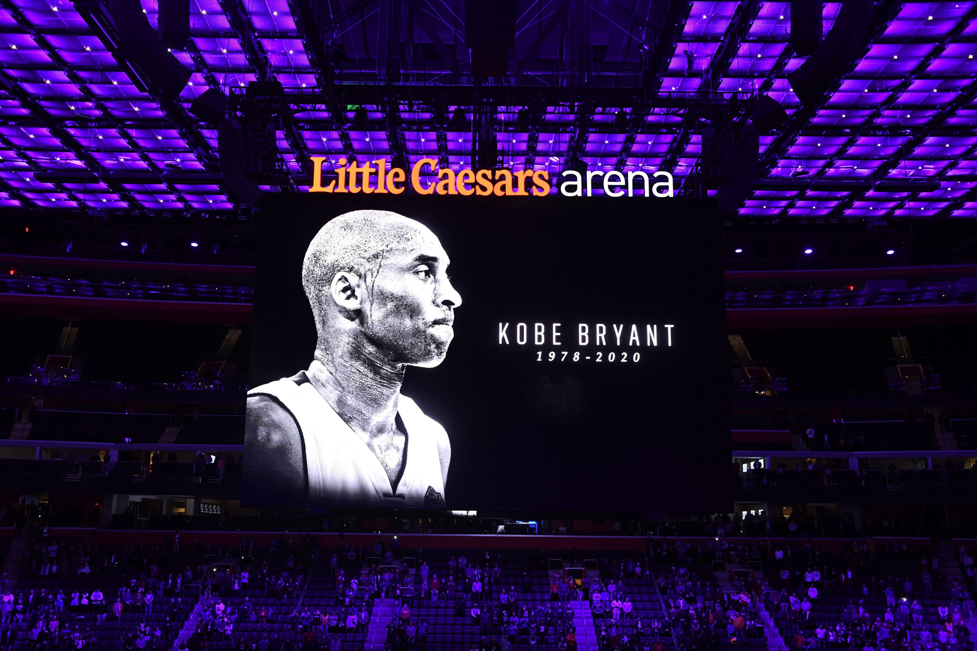 The Detroit Pistons pay tribute Kobe Bryant's legendary career
