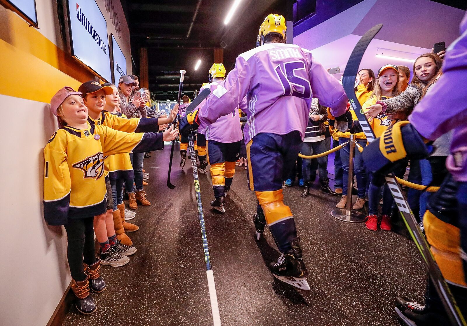 outlet store b92d1 3c18c Nashville Predators: Dear NHL, thank you for fighting cancer