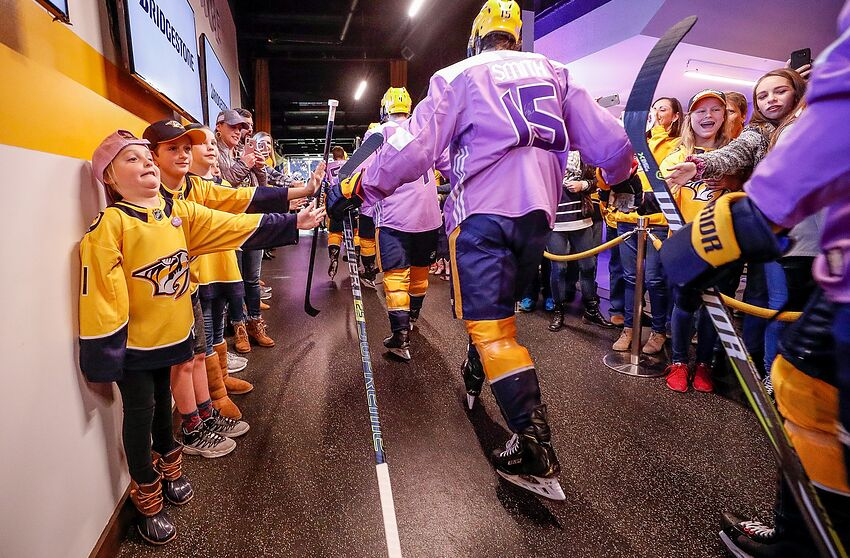 outlet store d11c9 9f471 Nashville Predators: Dear NHL, thank you for fighting cancer