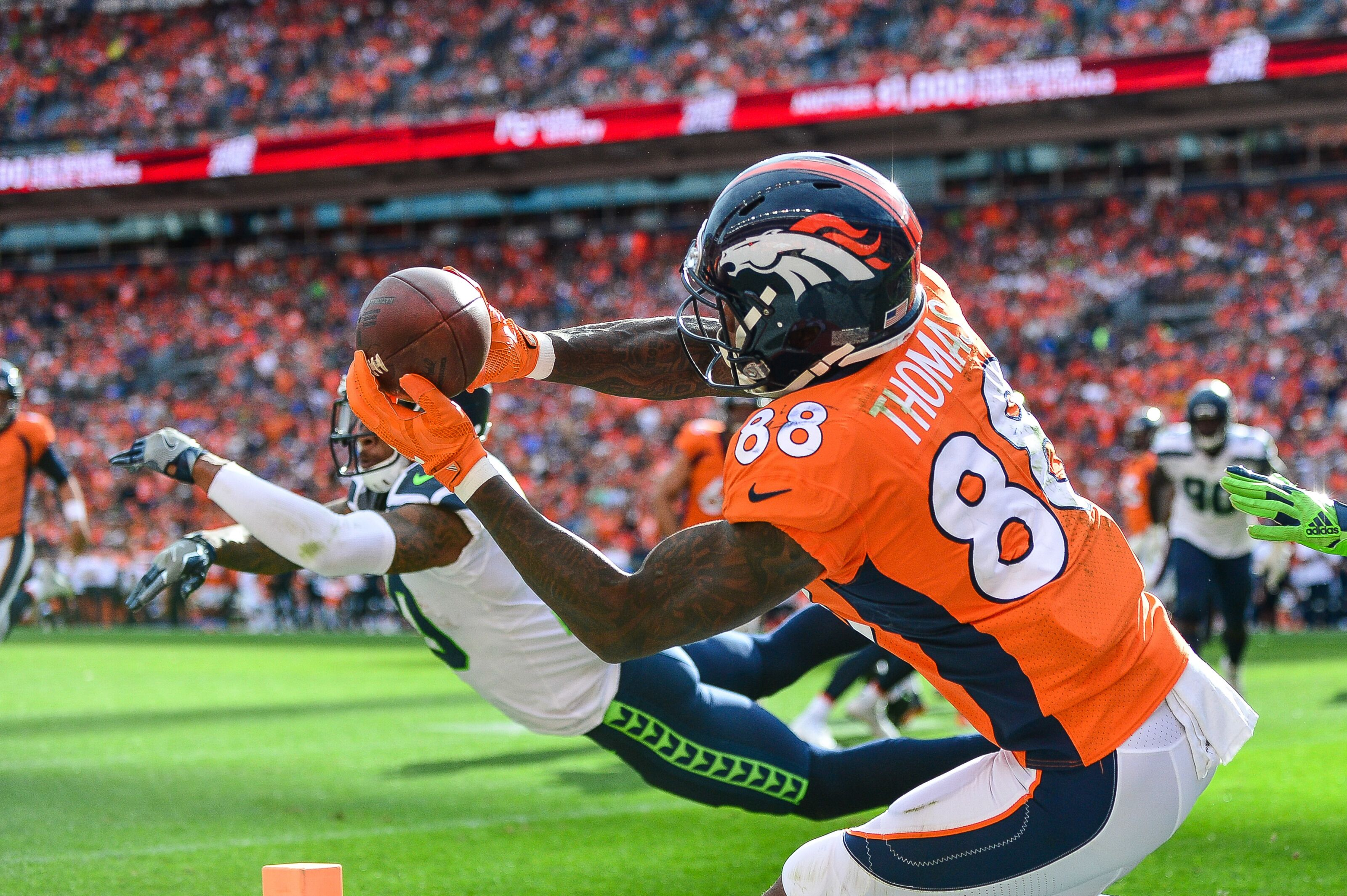 Image result for demaryius thomas catch vs seahawks 2018
