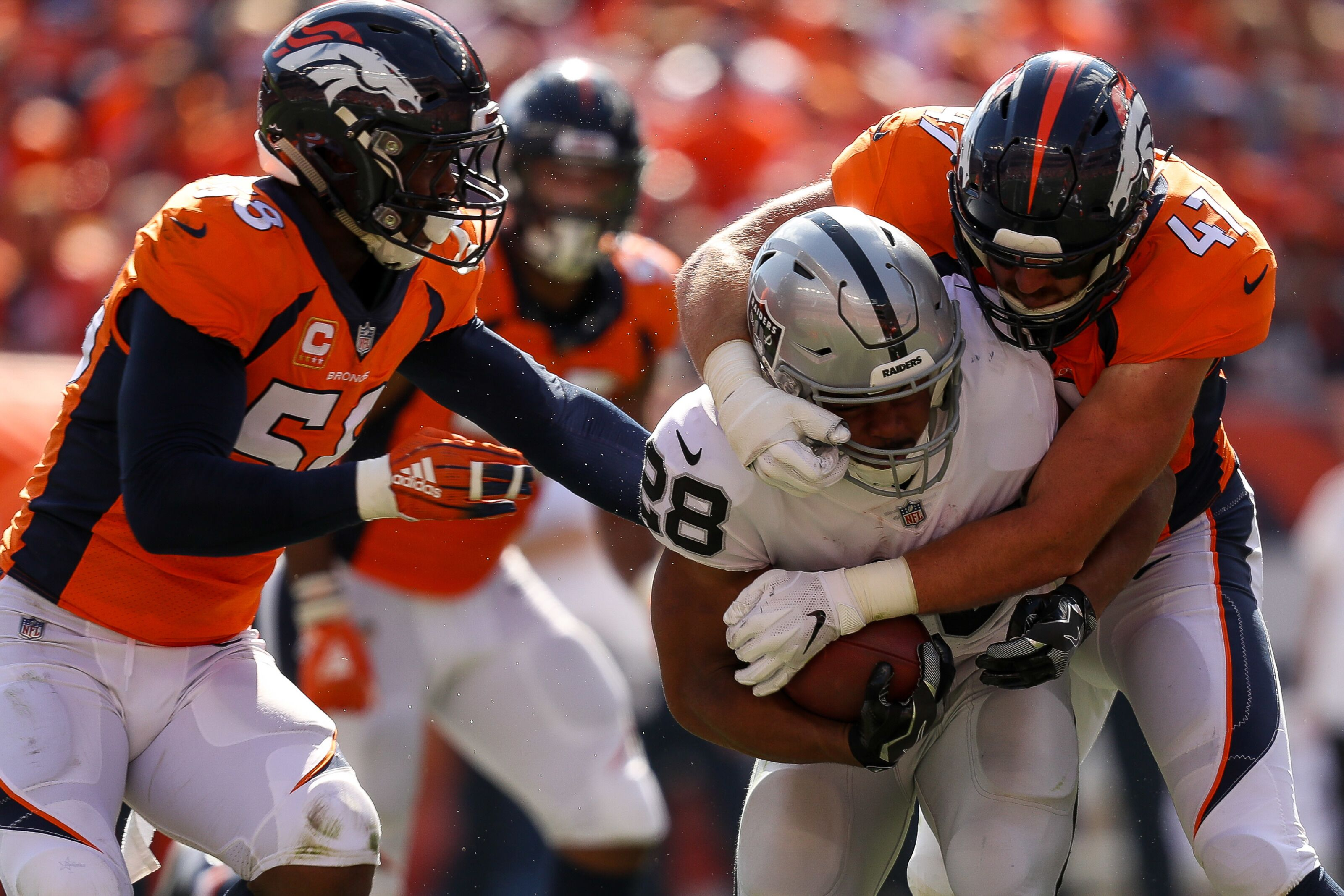 wholesale dealer 08350 8aaa0 Denver Broncos: Josey Jewell's first start was a great one