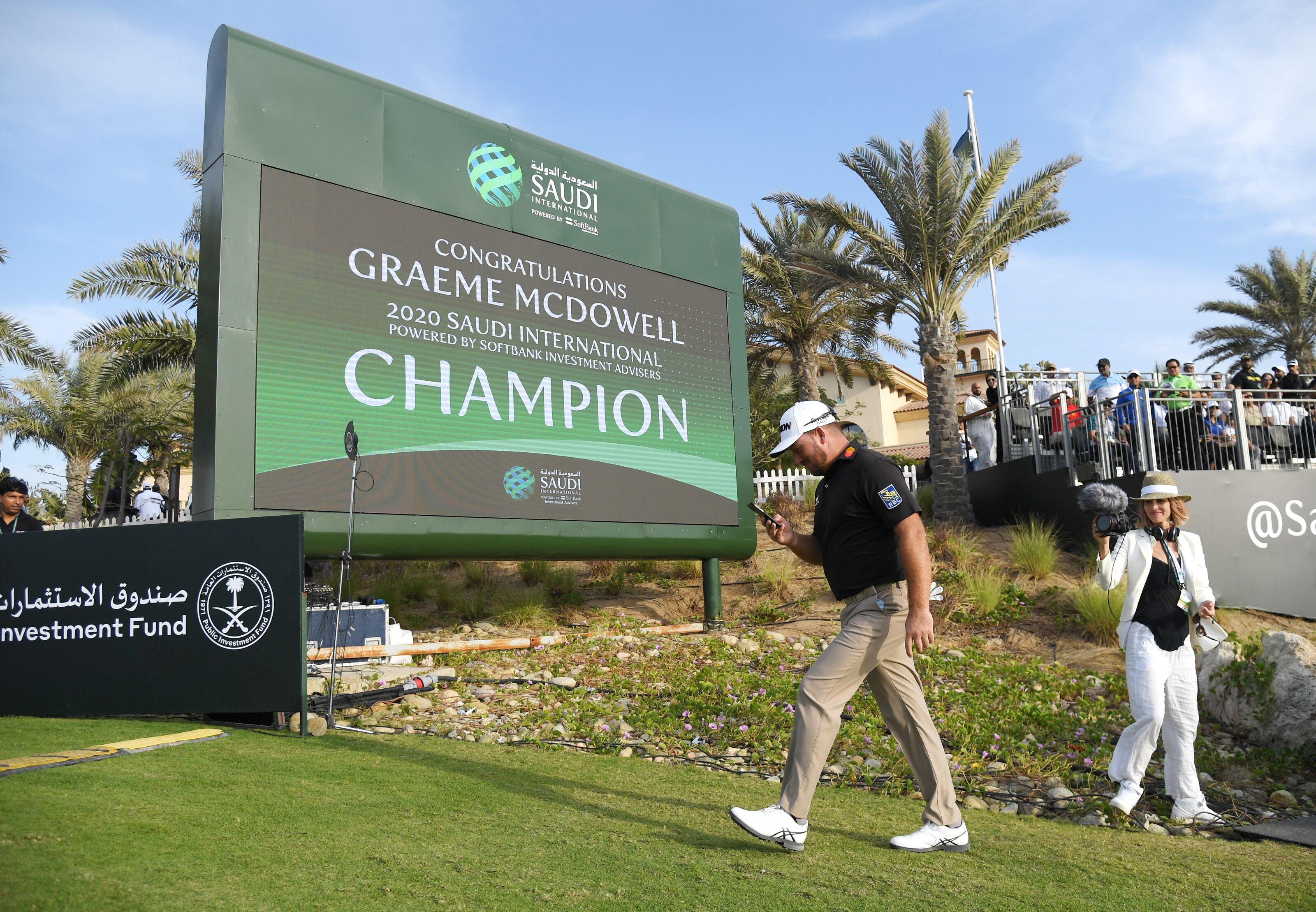 Race to Dubai: Graeme McDowell Into Top Three After Saudi Win