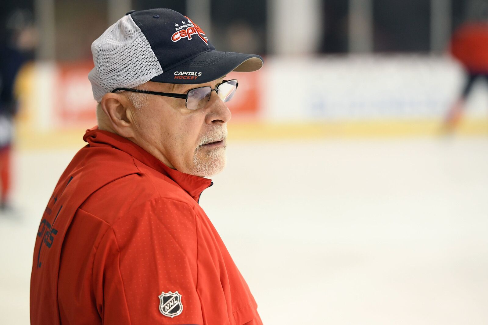 Washington Capitals coach Barry Trotz takes hot lap before Game 7