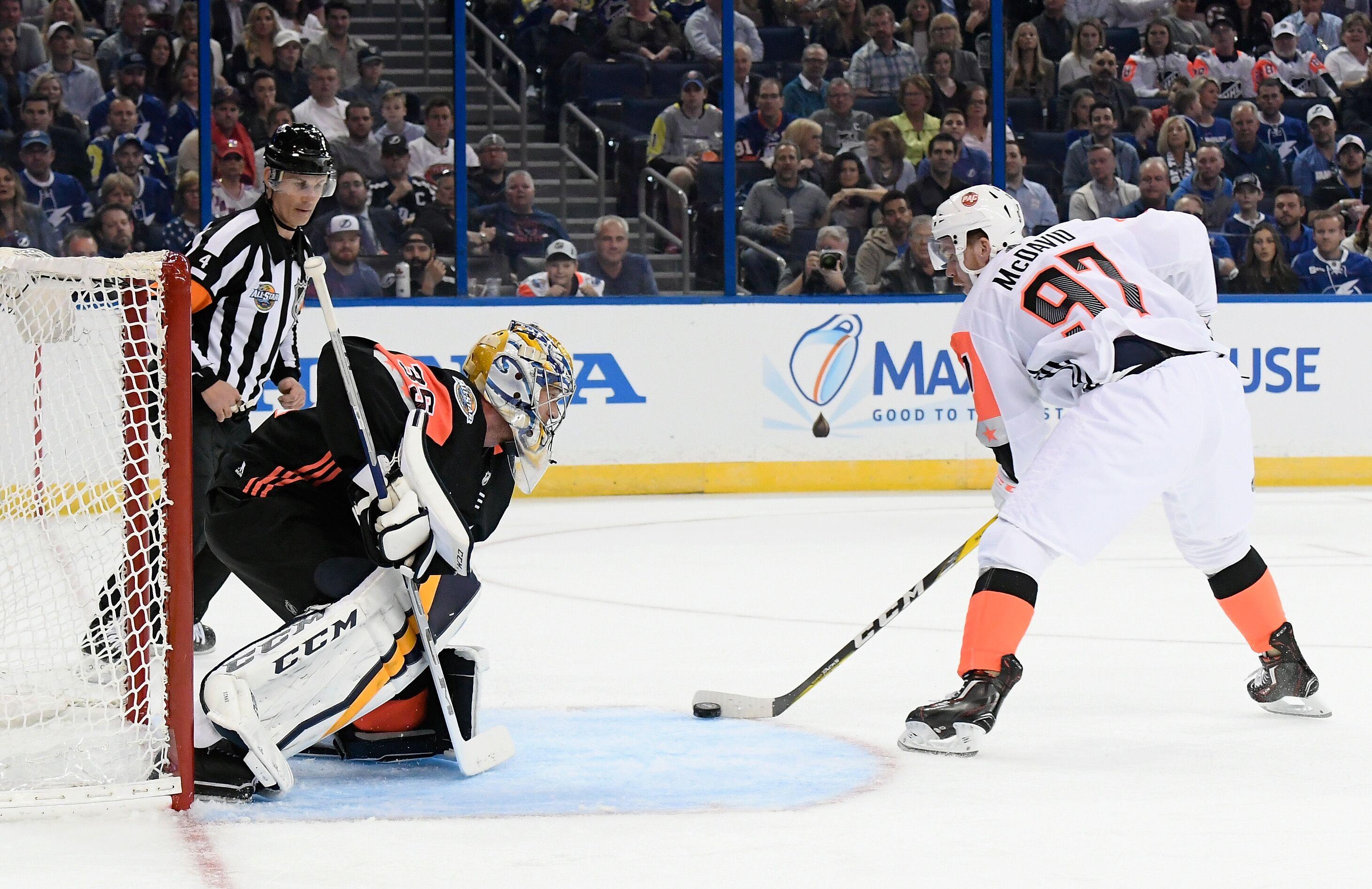 on sale 011d2 253e8 2018 NHL All-Star Game: Predators' Pekka Rinne saves goal ...