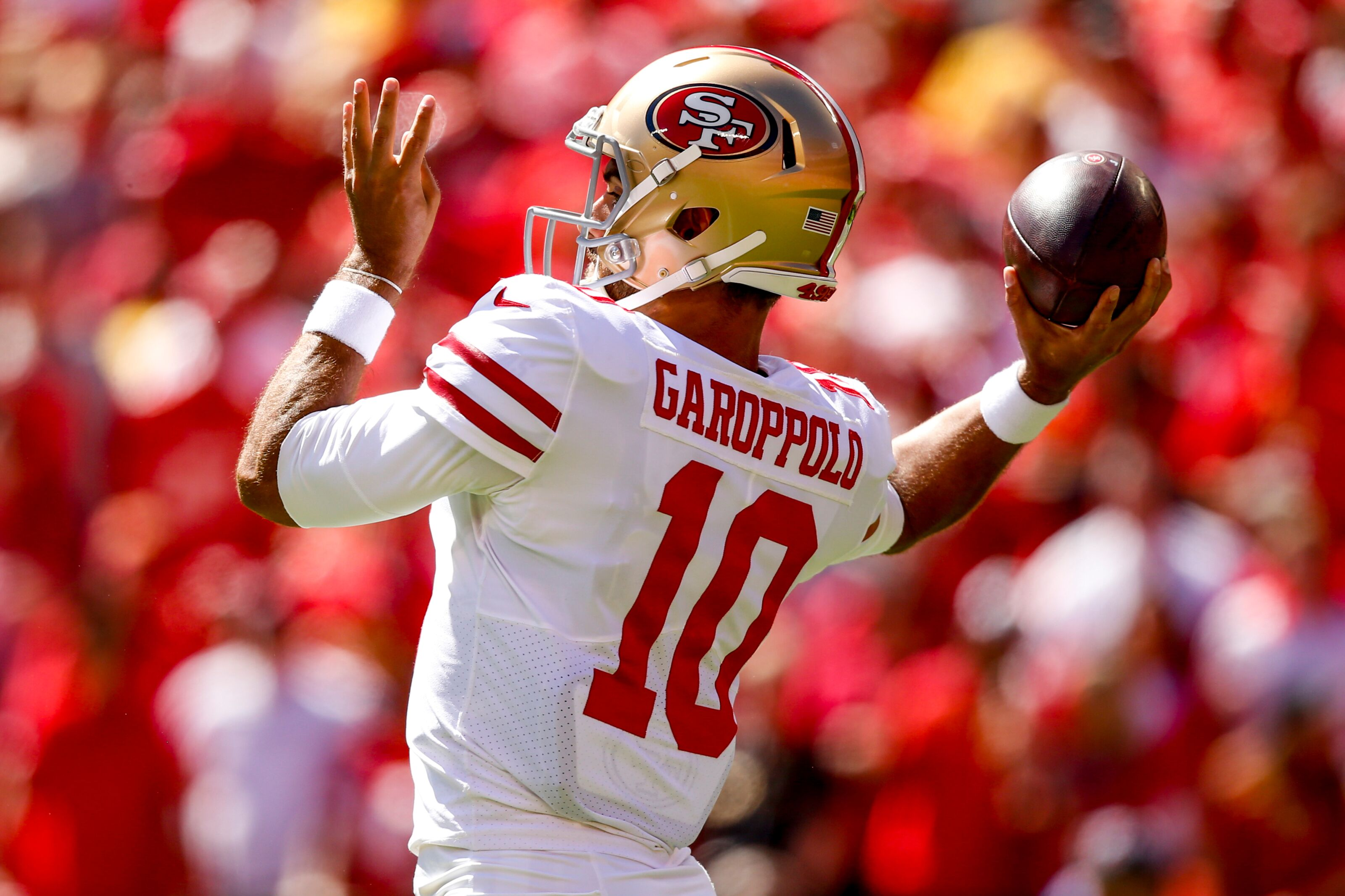 7a2f02862 Los Angeles Rams  Jimmy Garoppolo on pace to be ready for camp
