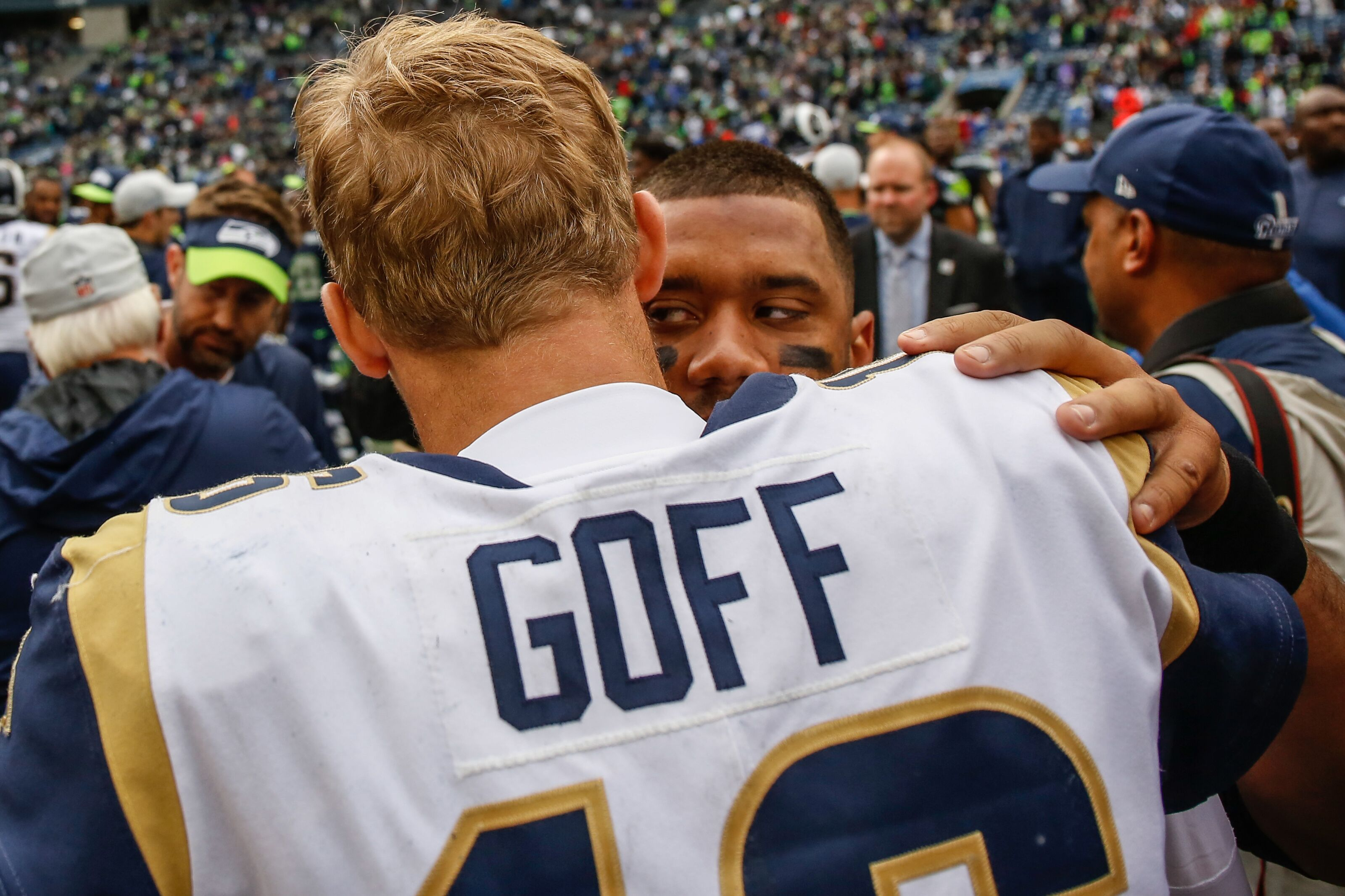 Los Angeles Rams: Jared Goff finishes behind Russell Wilson in NFC West grades from PFF