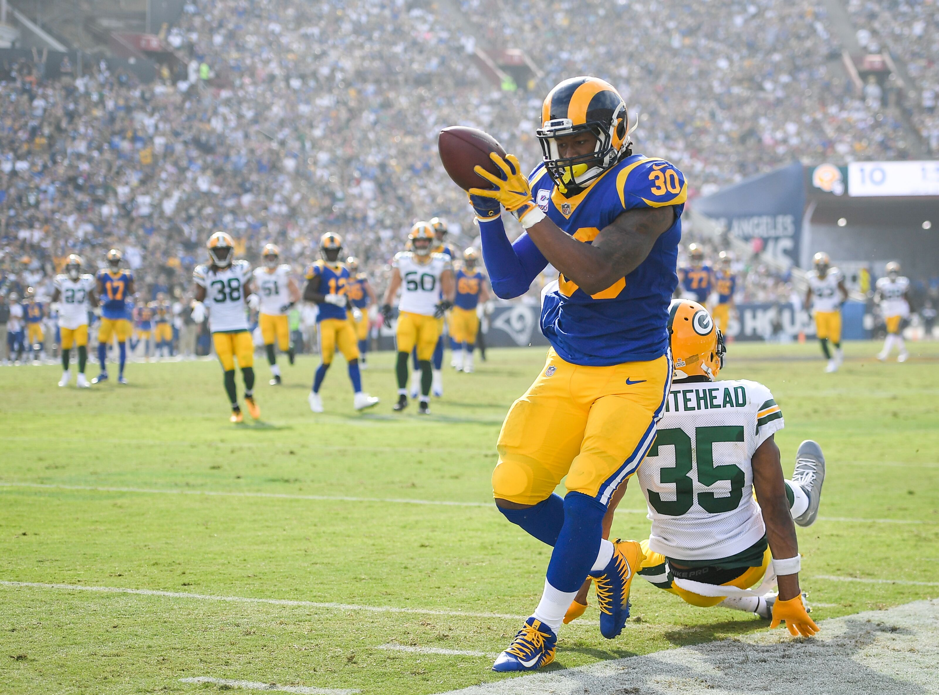 Los Angeles Rams  Todd Gurley and Aqib Talib healthy at the right time. 4d81b56a8