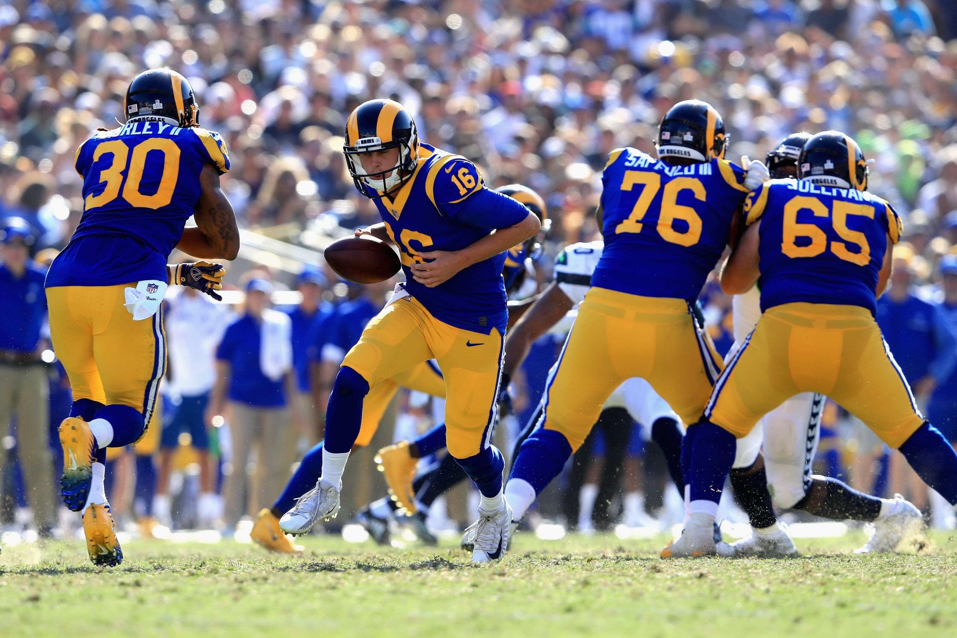 5fee0bfb98c Los Angeles Rams to wear throwback uniforms five home games 2018