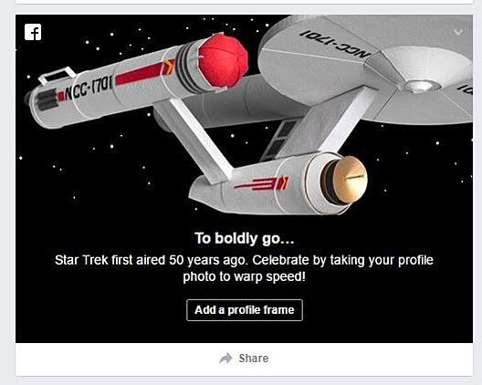 star trek 50th anniversary frames for facebook profile pictures