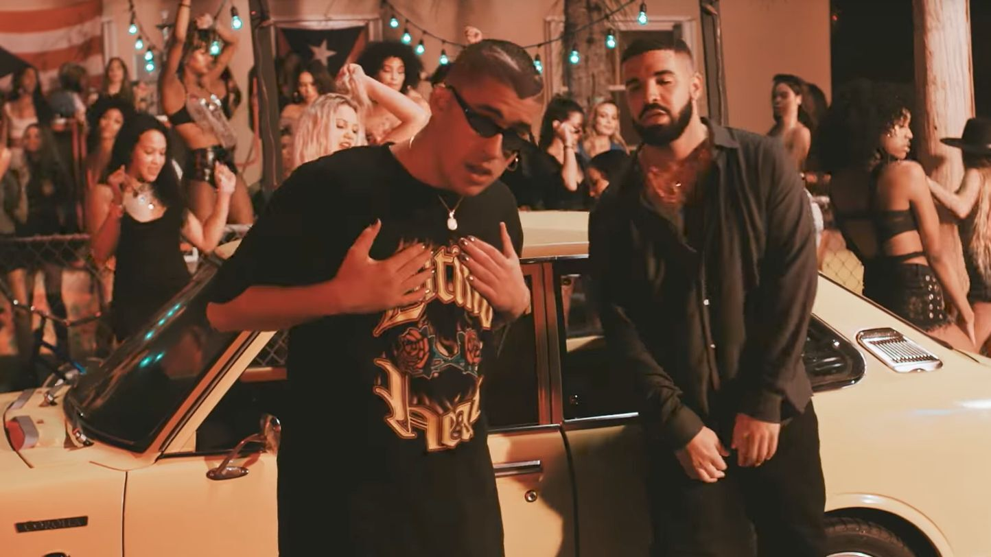 94cf8aebe08 Bad Bunny Shines Alongside Will Smith and Drake In His New Video