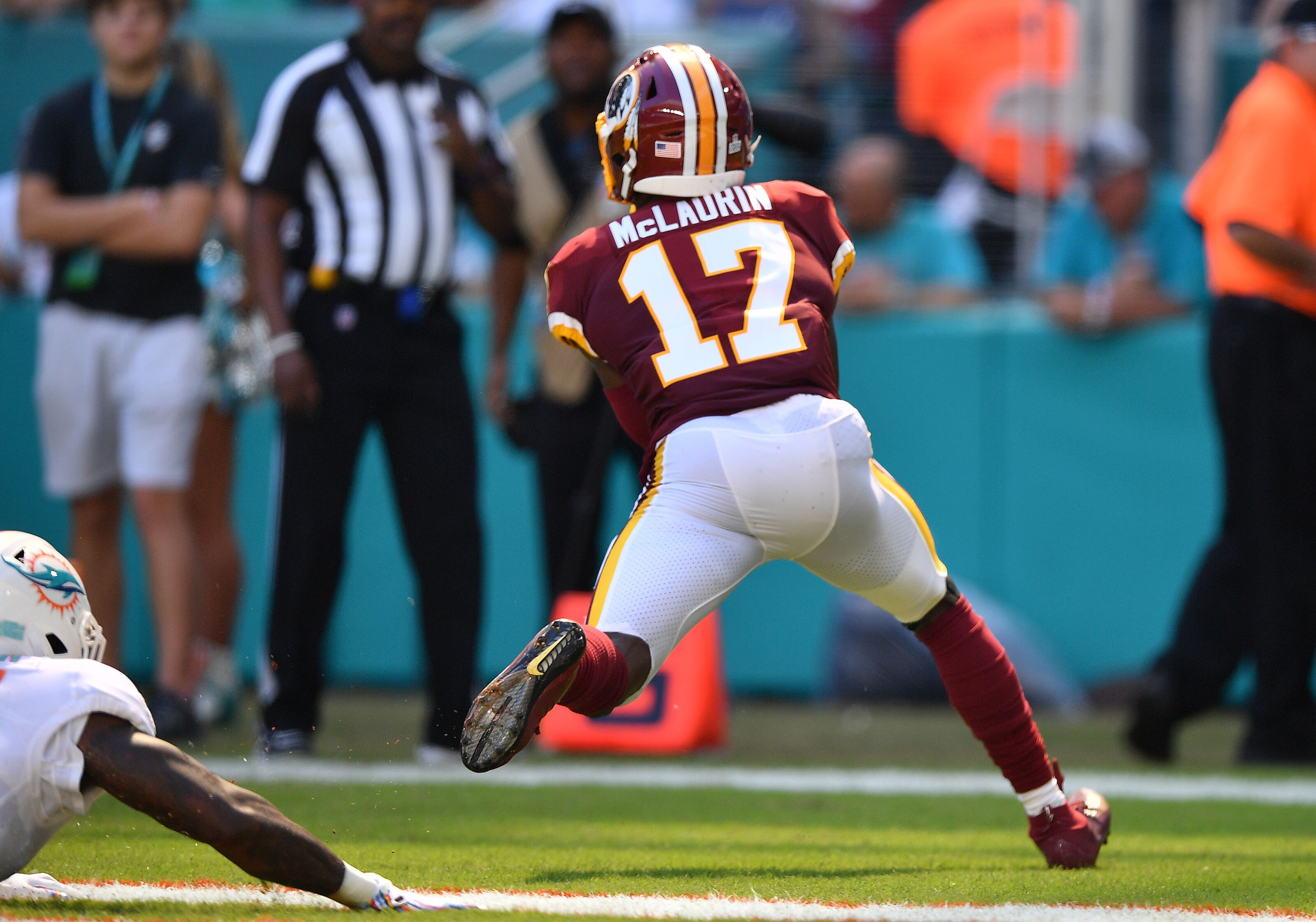 """Redskins QB Case Keenum on rookie Terry McLaurin: """"He's special"""""""