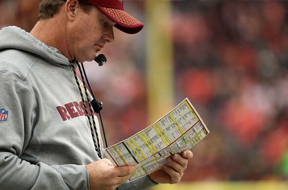 md december 17 head coach jay gruden of the washington redskins stands on the sidelines in the third quarter against the arizona cardinals at fedex