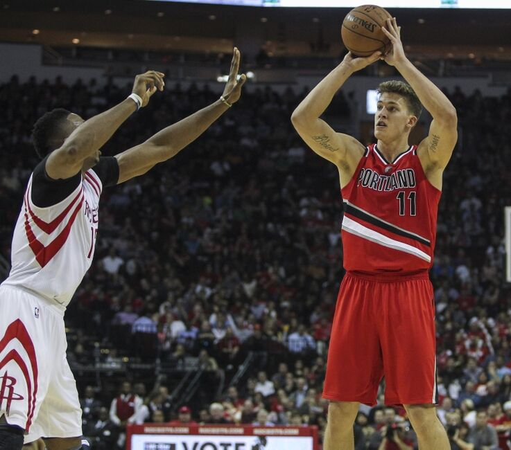 Portland Blazers 27: Meyers Leonard Rising To The Occasion On Offense