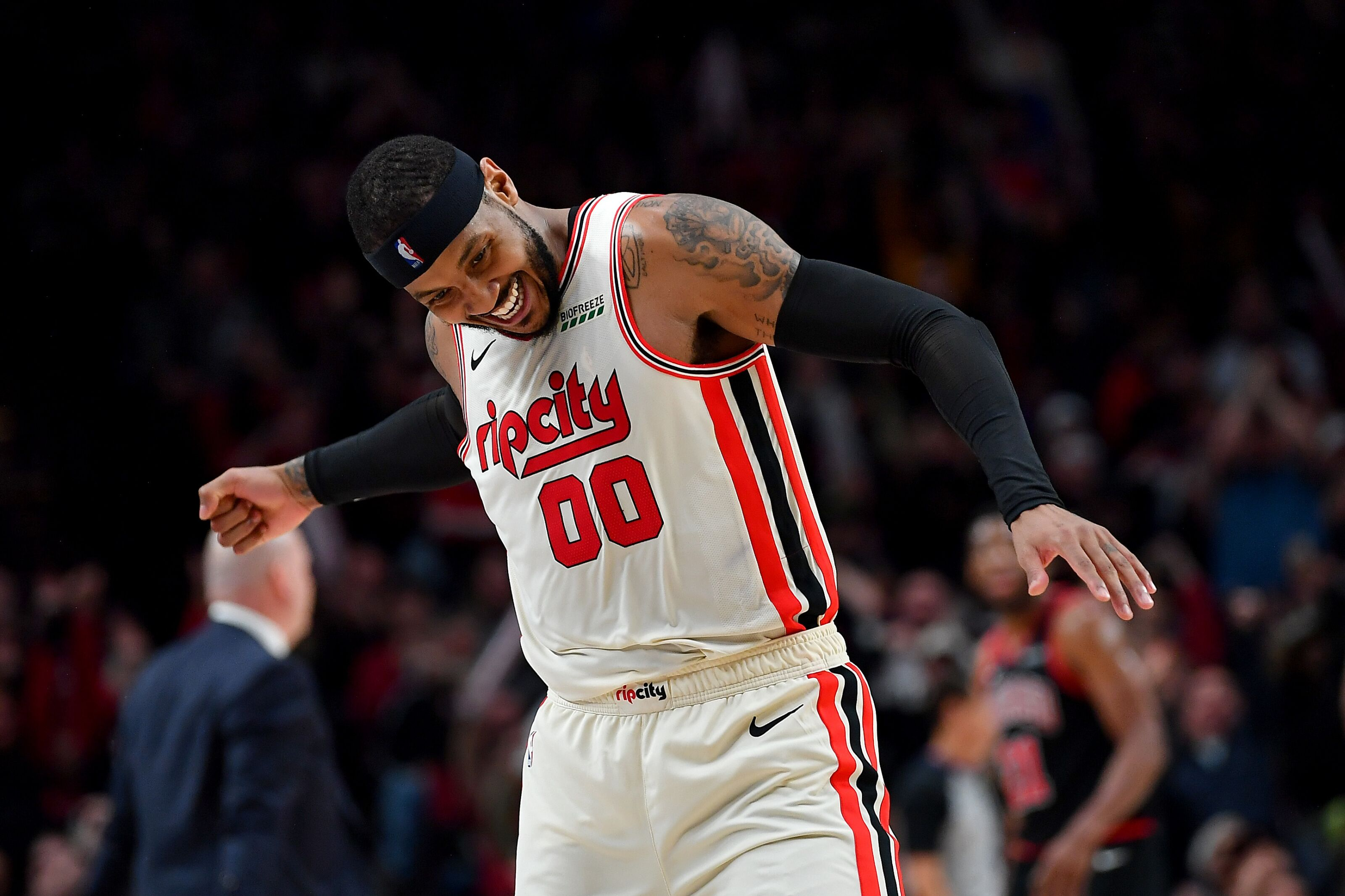 Carmelo Anthony may actually be the answer for the Trail Blazers