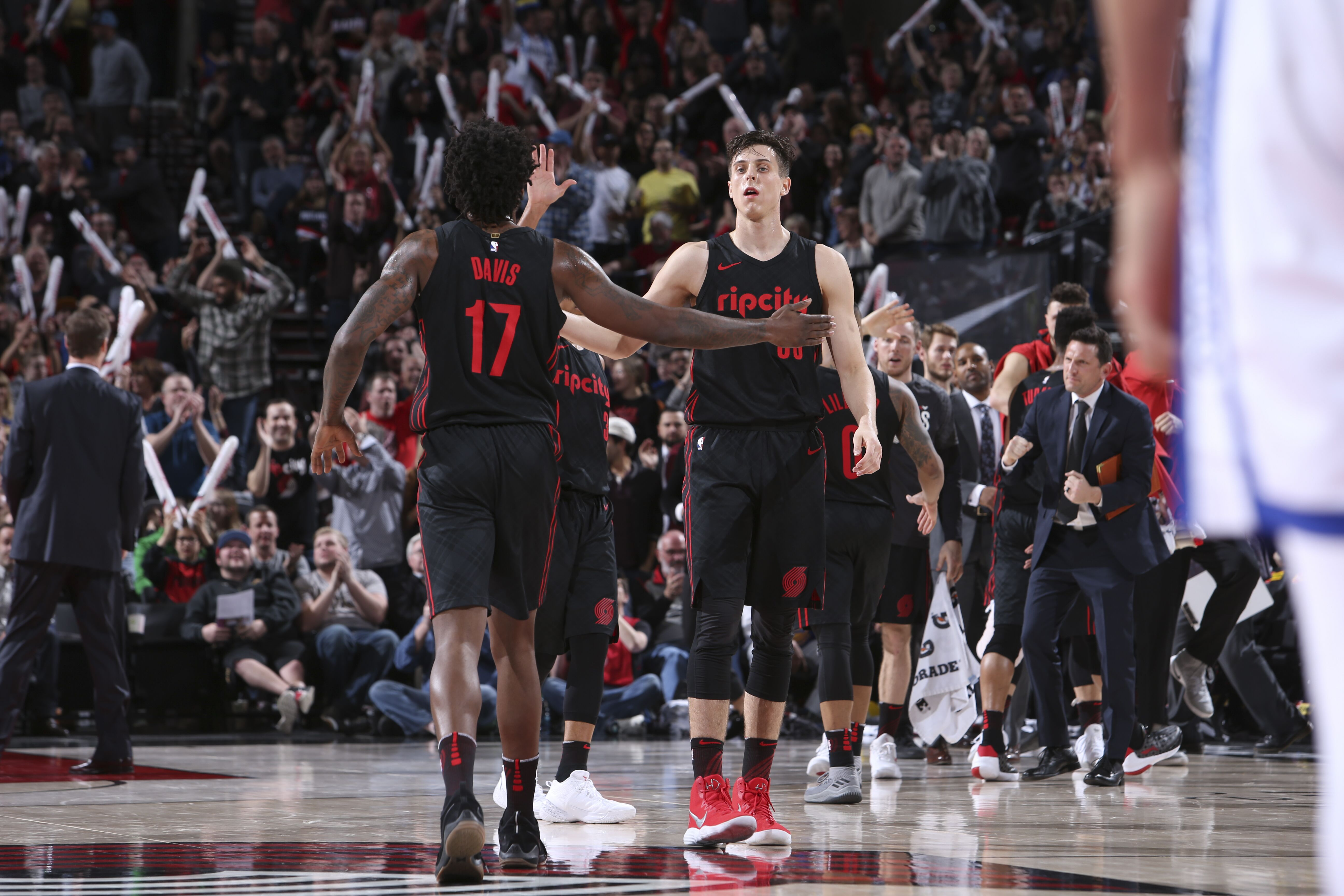 4ab9e89c11e84 Zach Collins and Ed Davis pairing leading bench unit to success