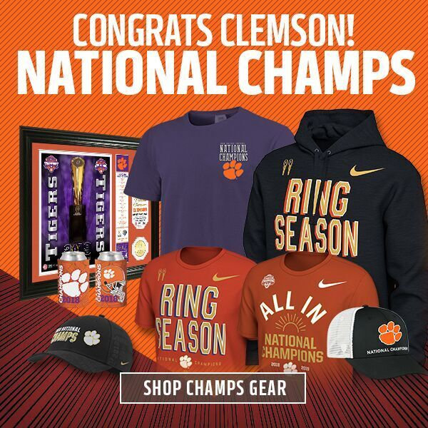 ac49bc315 The Clemson Tigers are National Champions. Time to gear up.