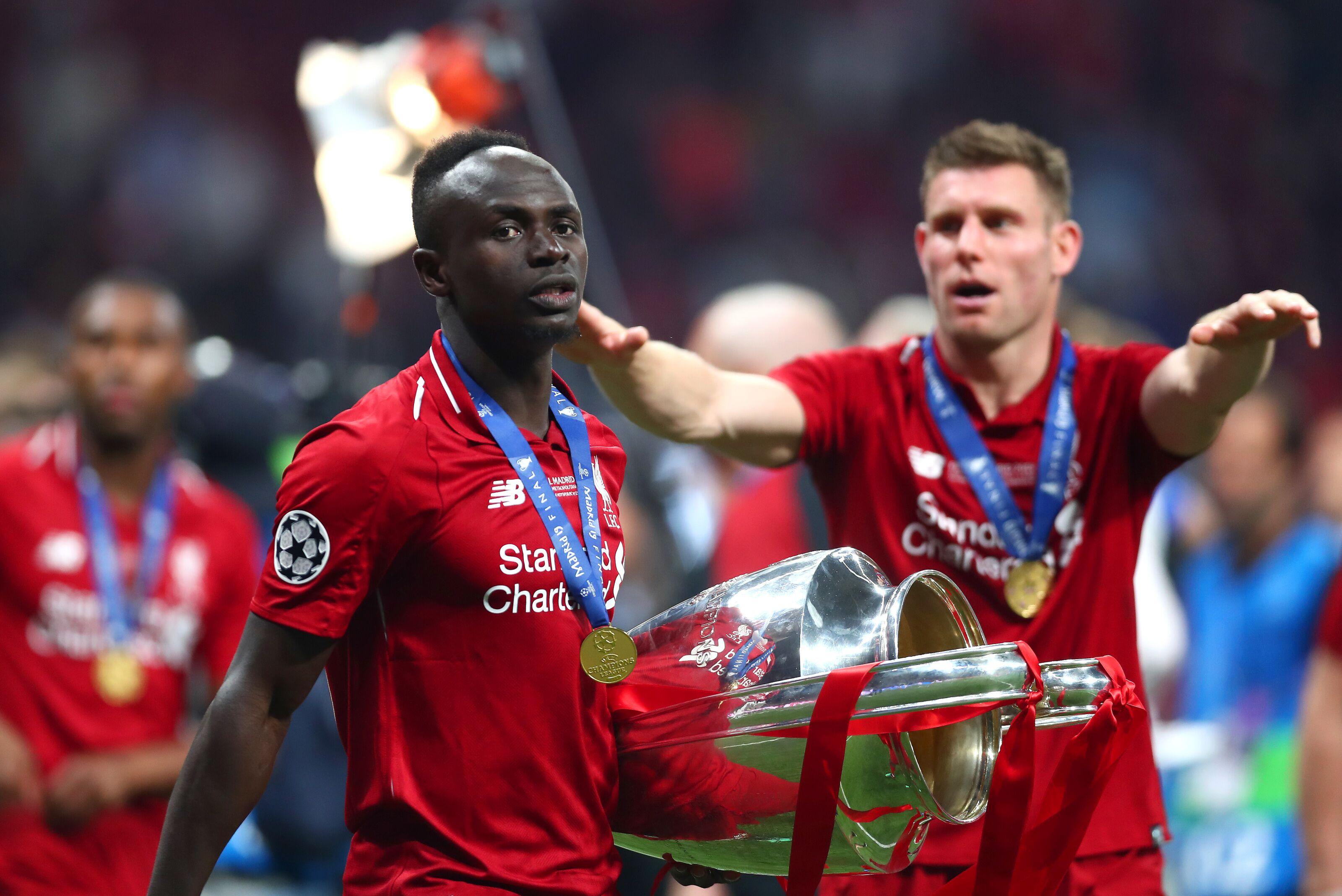 Everton player celebrates Liverpool star Sadio Mane for Champions League win