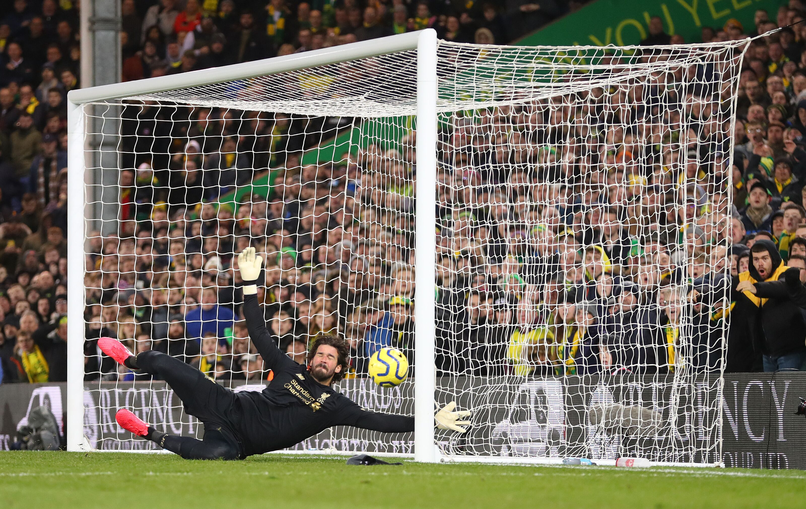 Liverpool 1-0 Norwich: Is he even human? Fans can't believe Alisson save