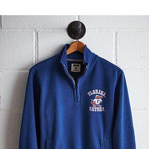 Tailgate Men's Florida Half-Zip Fleece Popover Royal Blue M