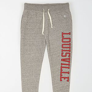 Tailgate Men's Louisville Cardinals Fleece Sweatpant Gray Heather XL