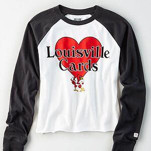 Tailgate Women's Louisville Cardinals Baseball Shirt White XS