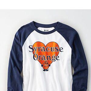 Tailgate Women's Syracuse Orange Baseball Shirt White S