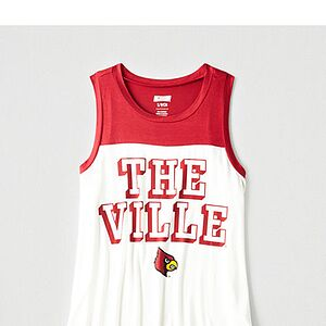 Tailgate Women's Louisville Color Block Tank Red M