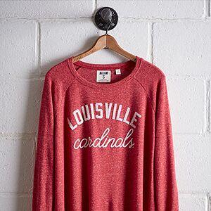 Tailgate Women's Louisville Plush Tee Red S