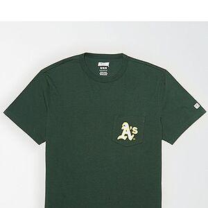 Tailgate Men's Oakland A's Pocket T-Shirt Green XL