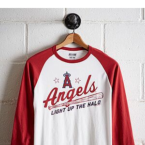 Tailgate Men's LA Angels Baseball Shirt White M