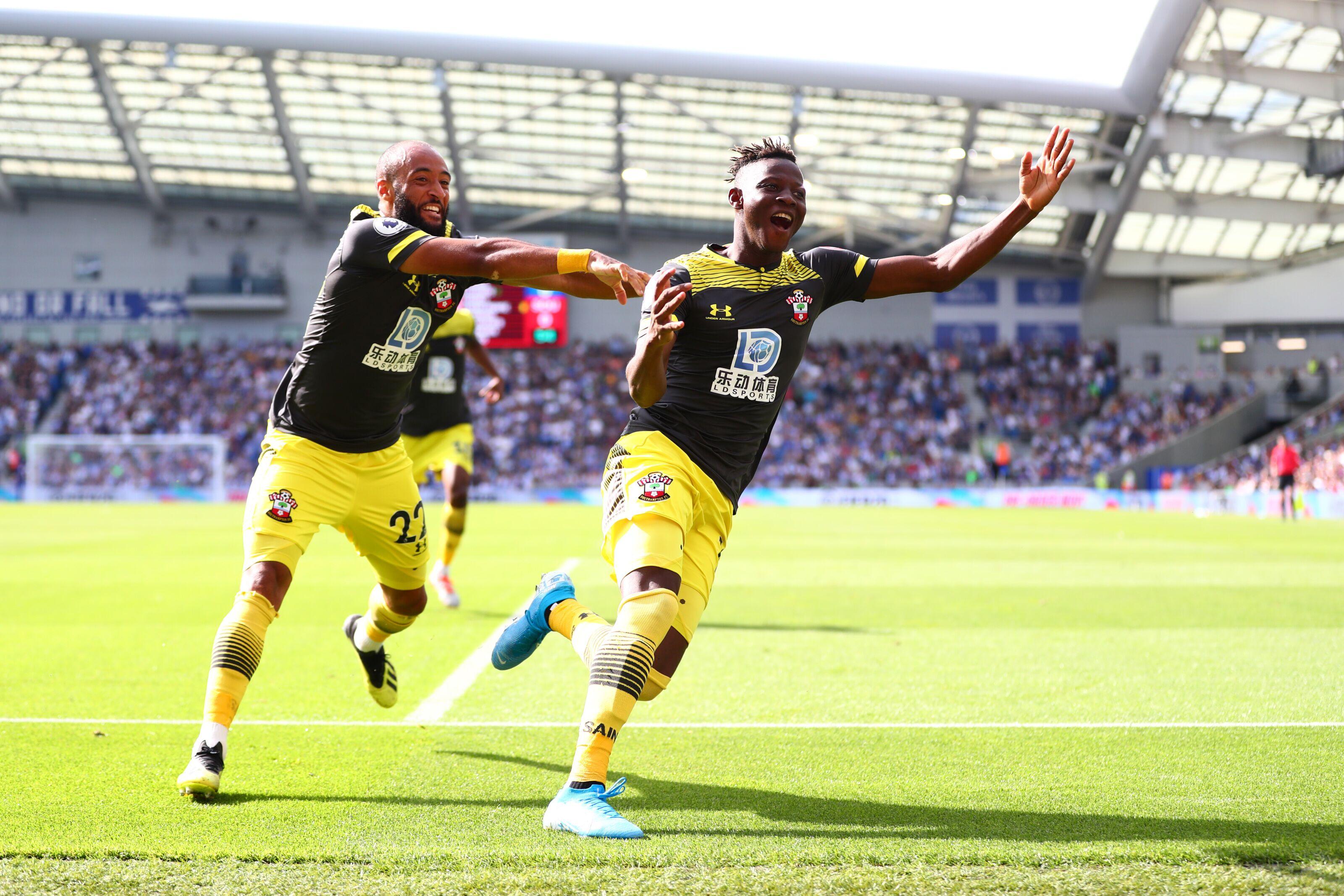 Brighton 0-2 Southampton: Djenepo and Redmond strikes earn Saints win over 10-man Seagulls