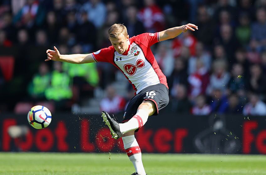 Southampton England April  James Ward Prowse Of Southampton In Action During The Premier League Match Between Southampton And Chelsea At St Marys