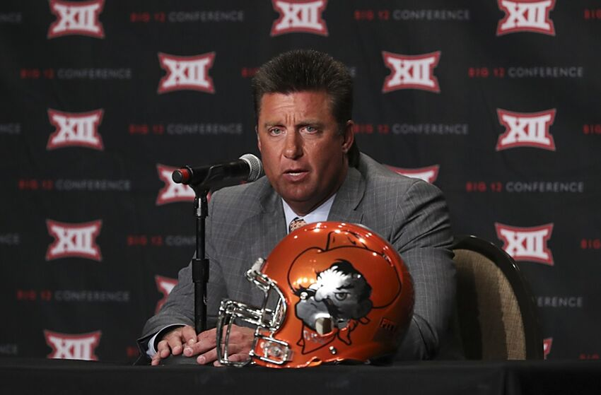 Big 12 expansion has Oklahoma State coach Mike Gundy looking scared