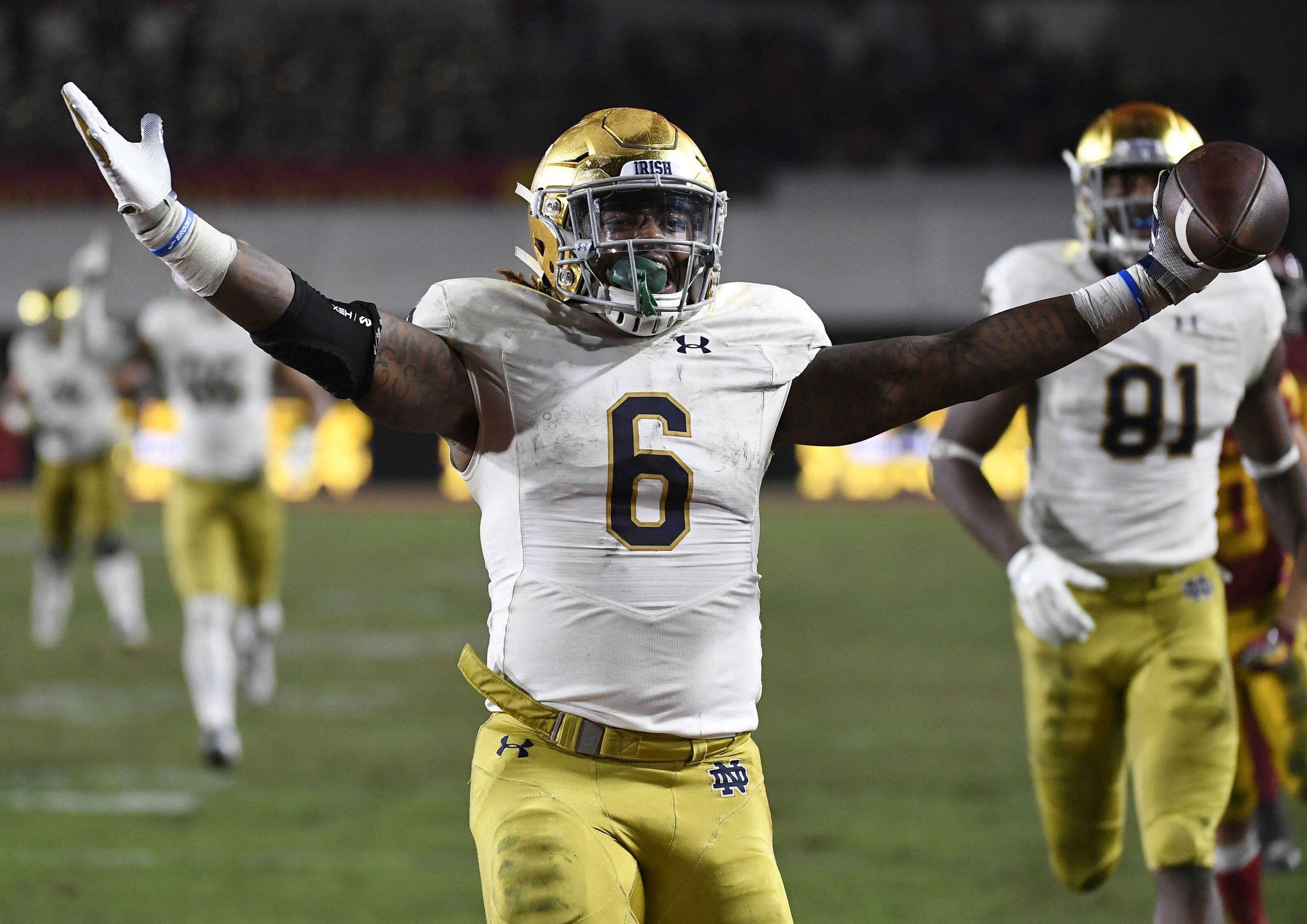 6964cb87ef9 Notre Dame Football: Can Tony Jones Jr. take control of backfield?
