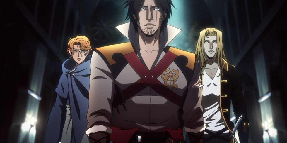 Castlevania: Trevor and Sypha, sitting in a tree…or are they?