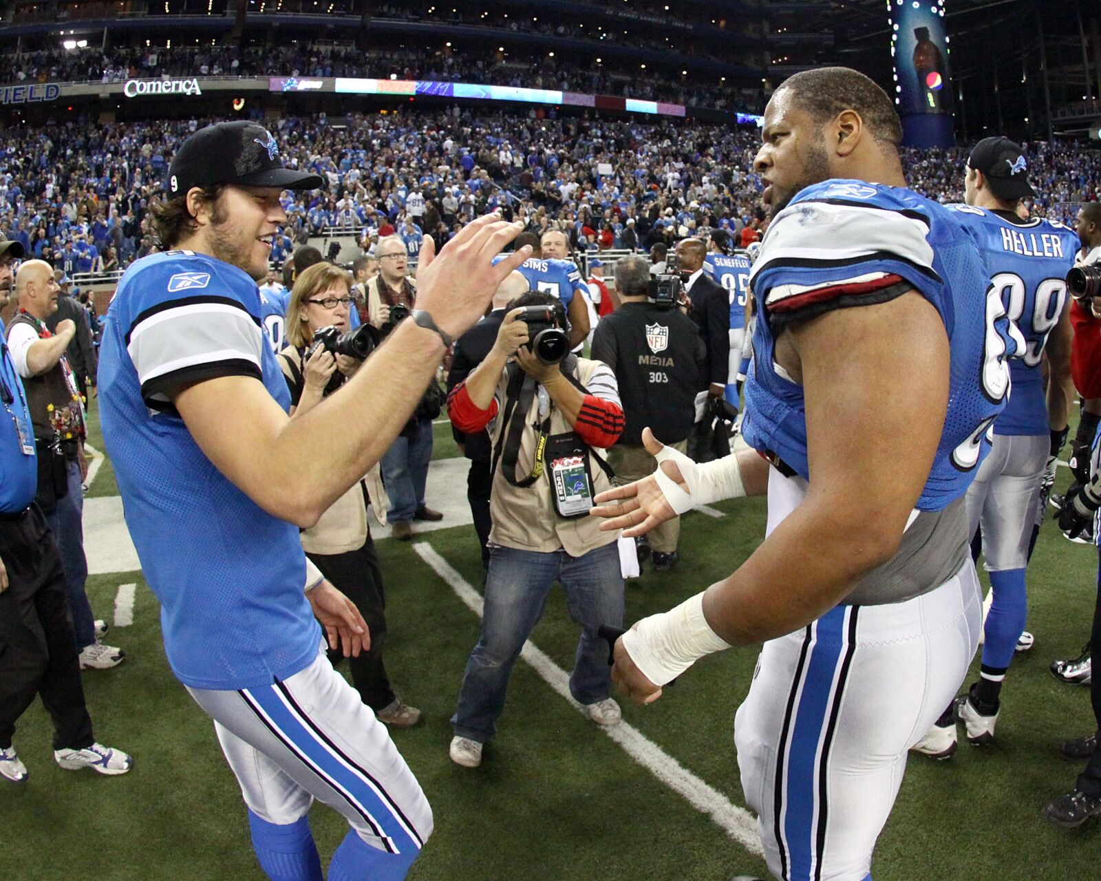 Detroit Lions Headlines Stafford And Suh S Silent Feud