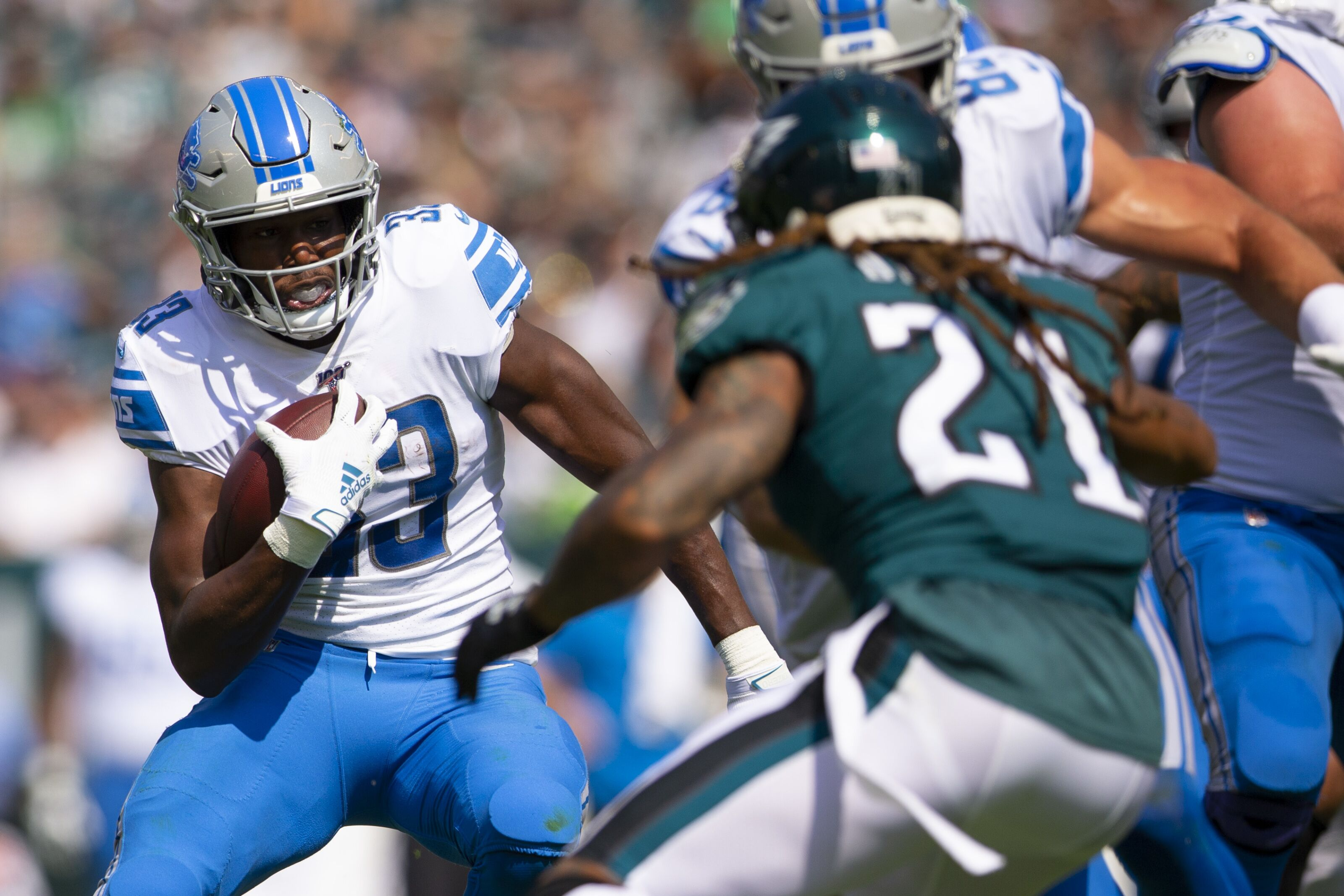 Detroit Lions running into a wall with ground attack