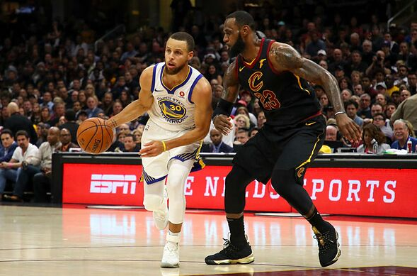 87bffc48946 CLEVELAND, OH – JUNE 08: Stephen Curry #30 of the Golden State Warriors  drives to the basket defended by LeBron James #23 of the Cleveland  Cavaliers in the ...