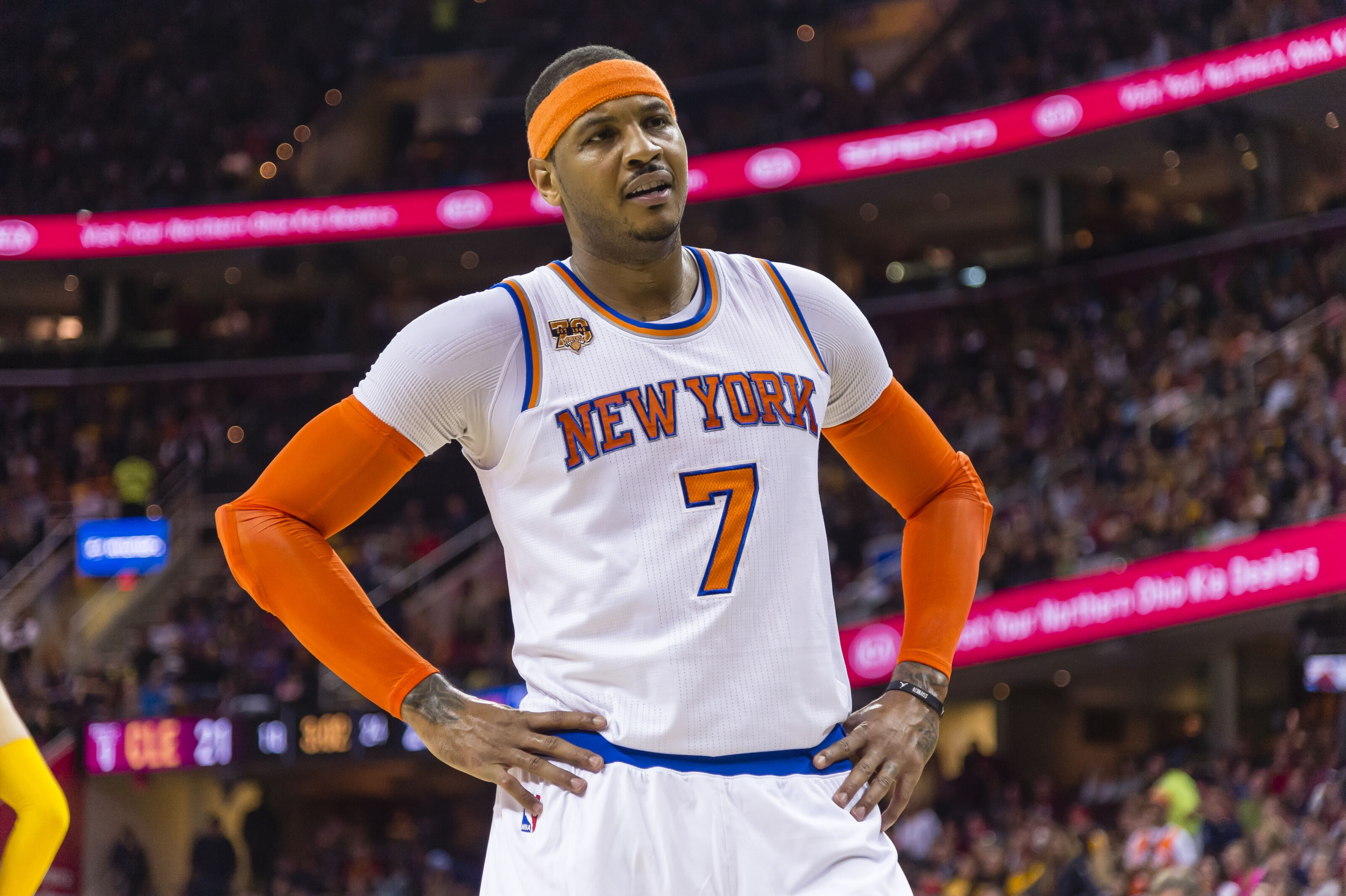 Carmelo Anthony's decline on offense and defense will spell the end to his career