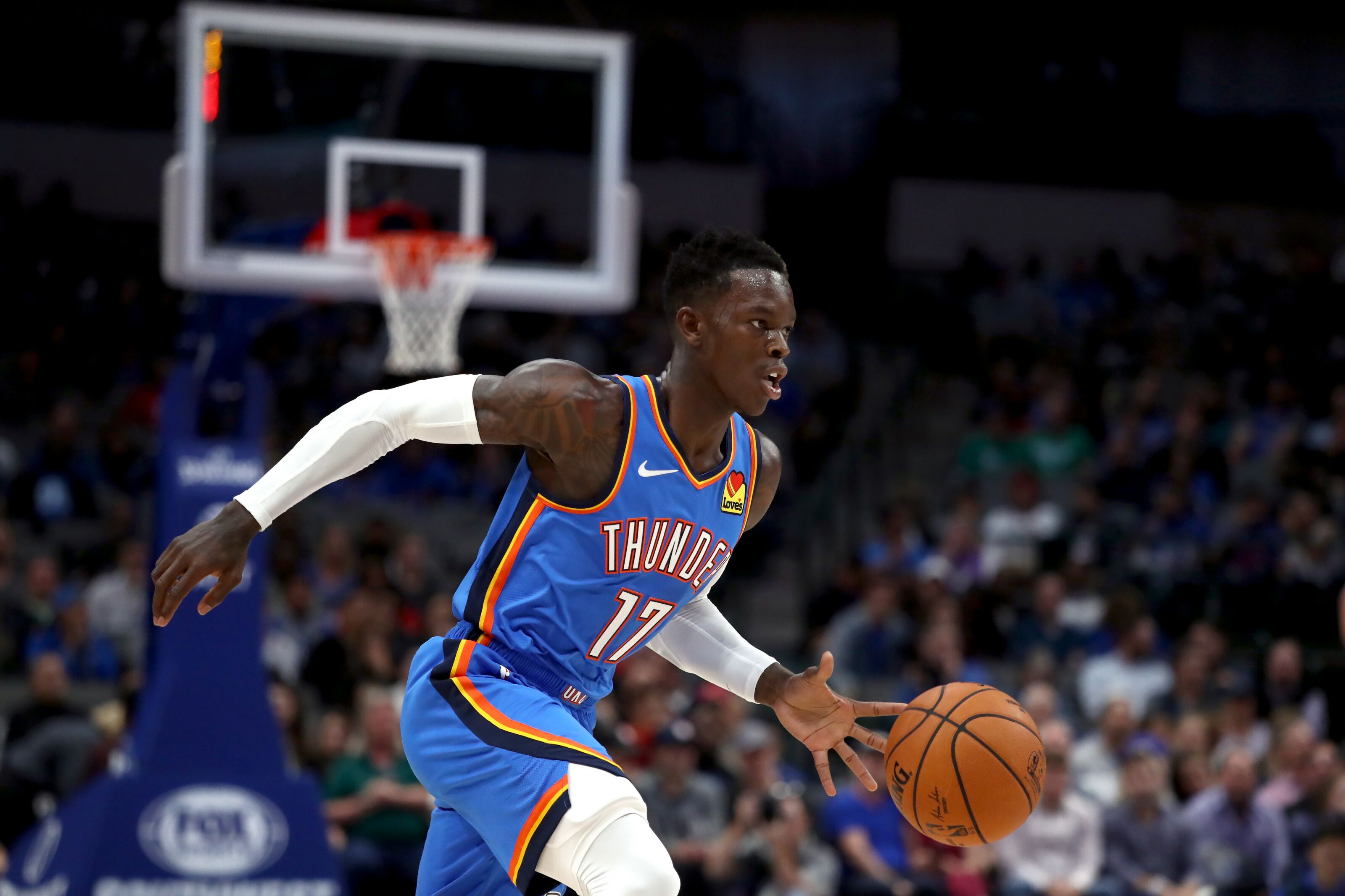Image result for dennis schroder okc vs chicago bulls 2019-20